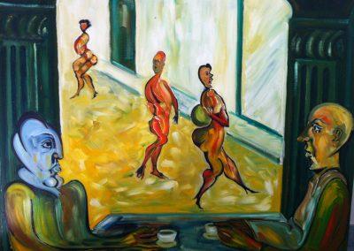 Falla et le philosophe dans un café de Sitges (2008)